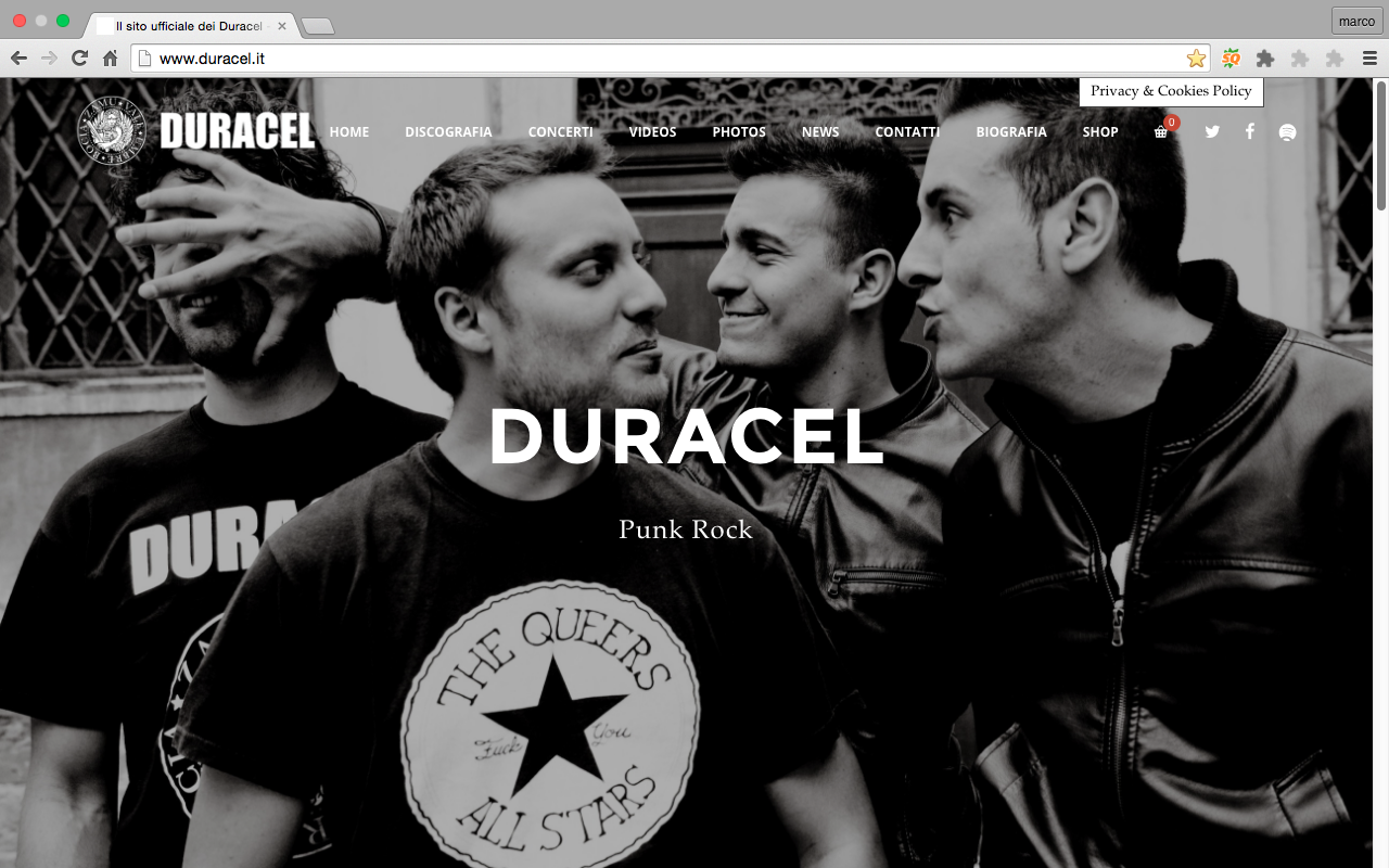 Sito Duracel punk rock