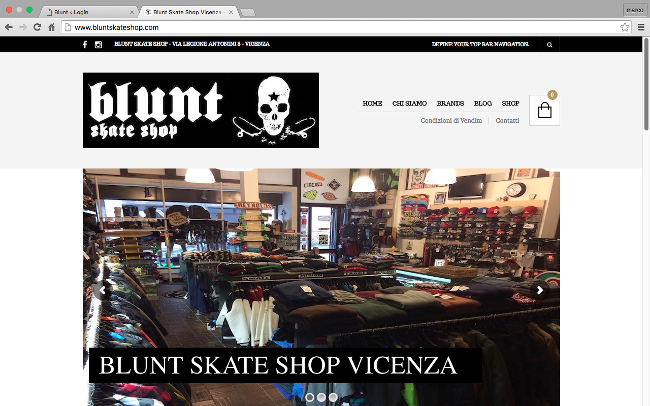 sito blunt skate shop vicenza